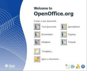 openoffice version 3 start screen