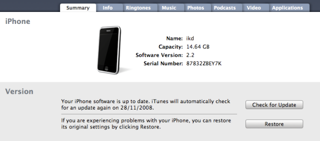 iphone 2.2 update
