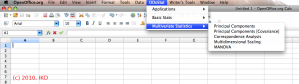 OOo_Stat Multivariate Statistics